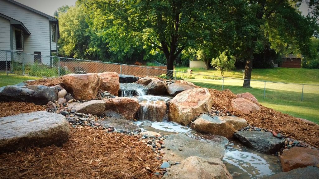 pondless waterfall with pooling area